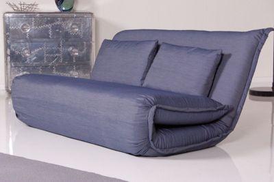KAWOLA Sessel Relax BILLY 150 cm Stoff Denim
