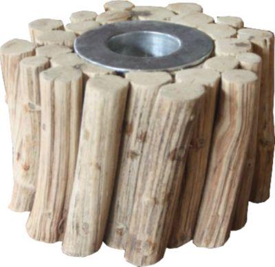 Teelichthalter aus Leanenholz mittel