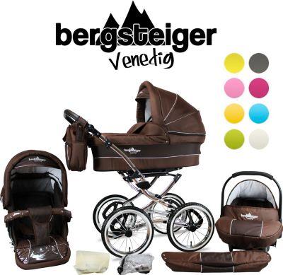 VENEDIG Retro Kombi Kinderwagen 3-in-1 - System, Autositz (Megaset 10 - teilig)