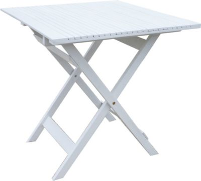 Balkontisch Weiss 70x70 cm Klapptisch Beistelltisch Gartentisch