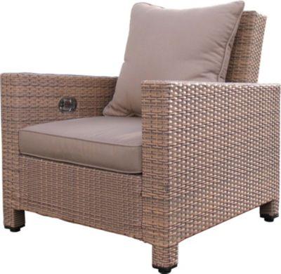 Rattan Lounge Loungesessel 80cm Sessel Sofa Relaxsessel Schlafsessel Braun