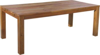 Rustikaler Holztisch 200x100 cm Natur