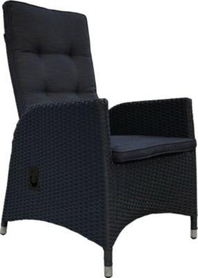2 Stück Polyrattan Sessel Mit Auflagen Gasdruck Gartensessel Verstellbar  Gartenmöbel Stuhl Rattan Geflecht