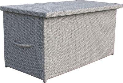 Kissenbox Auflagenbox Gartenbox Truhe Lounge XXL - Trendgrau