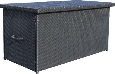 Kissenbox Auflagenbox Gartenbox Truhe Lounge XXL - Schwarz