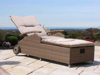 gartenliege aus polyrattan preisvergleich die besten. Black Bedroom Furniture Sets. Home Design Ideas