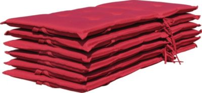 Plus 6 Auflagen Klappsessel Santos - Rubinrot Uni
