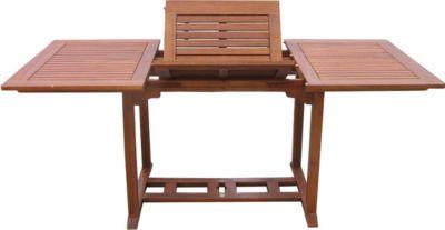 Gartentisch Cuba 120-180x90cm Akazienholz ausziehbar