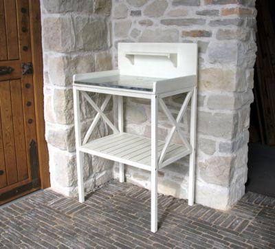 Basteltisch Gartentisch Pflanztisch Akazie Weiß