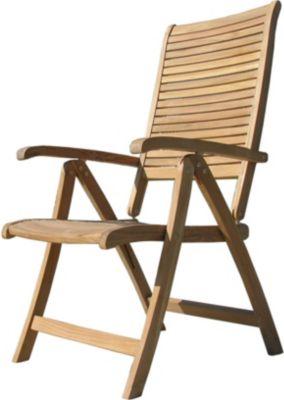 Gartenstuhl Hochlehner Klappstuhl Teakstuhl Teak Holz Stuhl mit Armlehne 5-fach verstellbar