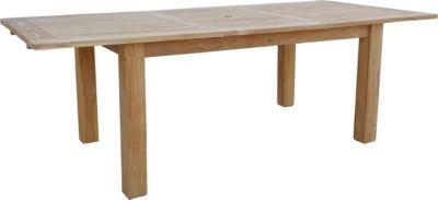 Esstisch ausziehbar Teak Tisch Gartenmöbel Gartentisch Holztisch 120/180x90 cm