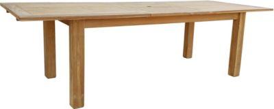 Esstisch ausziehbar Teak Tisch Gartenmöbel Gartentisch Holztisch 200/260x100 cm