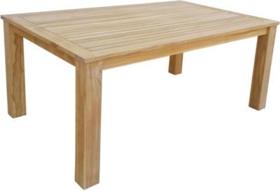 Esstisch 160x100 cm Teak Tisch Gartenmöbel Möbel Gartentisch Holztisch