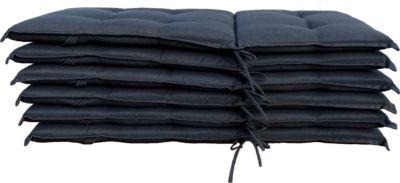 Grasekamp 6 Stück Auflagen Anthrazit zu Sessel Klappsessel