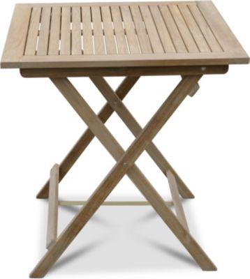 Grasekamp Teak Tisch 70x70cm Gartentische Bistrotisch Balkontisch Gartenmöbel   Garten > Balkon > Balkontische   Grasekamp
