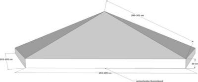 Schutzhaube Abdeckplane Plane Pavillon 6-eck