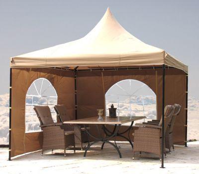 Grasekamp lounge pavillon sahara 3x3m sand baumarkt xxl for Badezimmer 3x3m