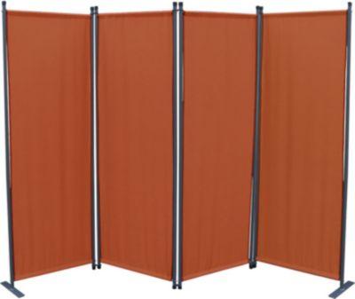 Grasekamp Paravent 4tlg Raumteiler Trennwand Sichtschutz Terra mit Ersatz Bezug | Garten > Zäune und Sichtschutz | Grasekamp