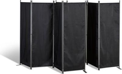 Grasekamp 2 Stück Paravent 4tlg Raumteiler Trennwand Sichtschutz Schwarz