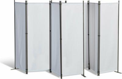 Grasekamp 2 Stück Paravent 4tlg Raumteiler Trennwand Sichtschutz Weiß