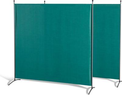 Grasekamp 2 Stück Stellwand 178x178cm Grün Paravent Raumteiler Trennwand Sichtschutz