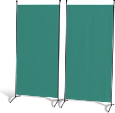 Grasekamp 2 Stück Stellwand 78x178cm Grün Paravent Raumteiler Trennwand Sichtschutz