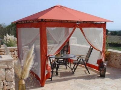 4 Seitenteile zu Gartenpavillon Antik Pavillon Partyzelt 3x3m Terra