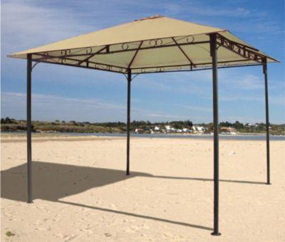 Antikpavillon 3x3m Sand mit Seitenwand Set