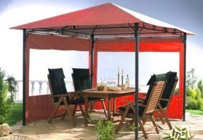 Grasekamp 2 Seitenteile zu Gartenpavillon Antik Pavillon Partyzelt 3x3m Terra