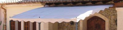 Ersatzdach Anbaupergola Mallorca - Sand