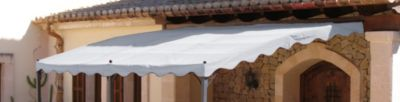 Ersatzdach Anbaupergola Mallorca - Grau