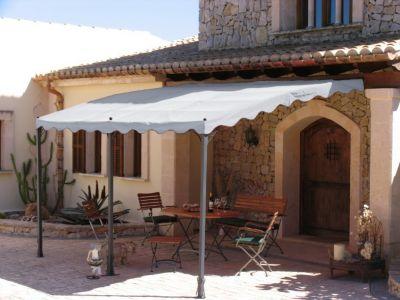 Anbaupergola Mallorca 400x300cm Grau bei Plus Online Shop