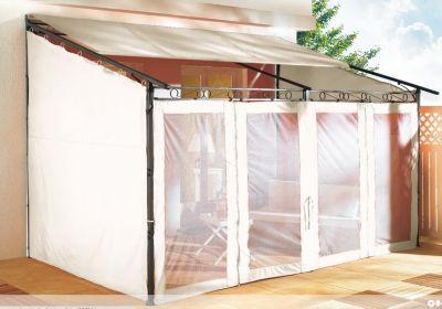 Seitenwand Set 3tlg zu Rollpavillon 3x4m Sand
