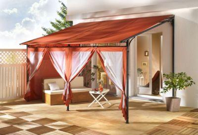 Seitenwand Set 3tlg zu Rollpavillon 3x4m Terra
