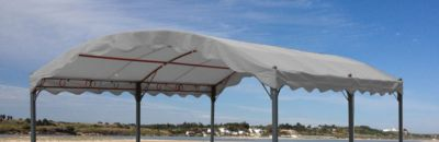 Grasekamp Ersatzdach zu Bogenpergola 3x4m Grau Pavillon Pergola
