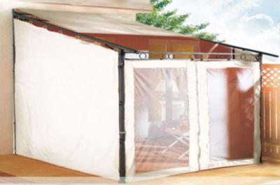 Seitenwand Set 3tlg zu Rollpavillon 3x3m Sand