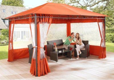 Grasekamp 2 Seitenteile Gartenpavillon Antik Pavillon Partyzelt 3x4m Terra