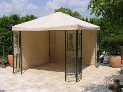 Grasekamp Garten-Pavillon ROMA 3x3m mit 2 Seite...