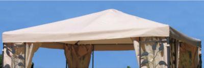 Ersatzdach zu Blätter-Pavillon 3x3m Sand | Garten > Pavillons | Sand | Grasekamp