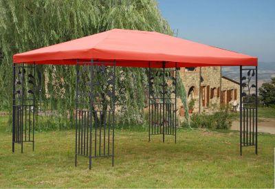 Grasekamp Blätter-Pavillon 3x4m – Terrakotta