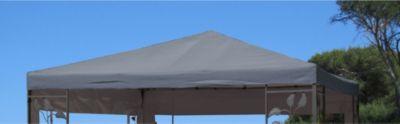 Ersatzdach zu Blätter Pavillon 3x3m Grau
