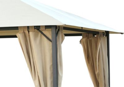 Grasekamp 4 Seitenteile zu Pavillon Nizza 3x4m Sand