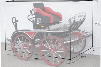 Abdeckplane Plane für Kutsche Pferdekutsche mittel - Preisvergleich