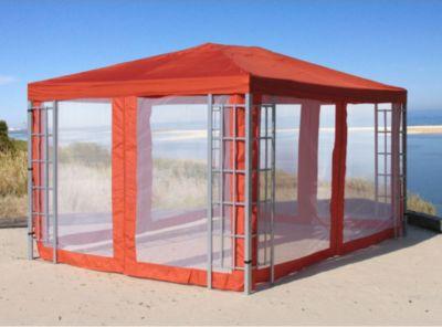 4 Seitenteile mit Moskitonetz zu Aluoptik Pavillon 3x4m Terrakotta