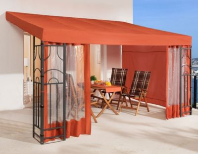 grasekamp anbaupergola romana 3x4 meter terra baumarkt xxl. Black Bedroom Furniture Sets. Home Design Ideas