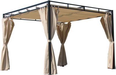 grasekamp 4 seitenteile zu flachdachpergola firenze sand baumarkt xxl. Black Bedroom Furniture Sets. Home Design Ideas