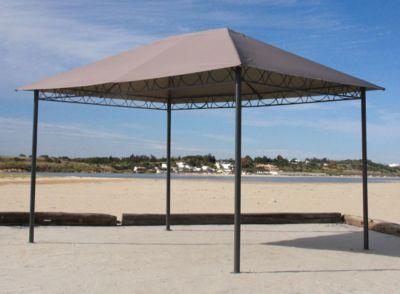 Grasekamp Stil Pavillon 3x4m – Taupe
