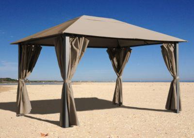 grasekamp pavillon paris 3x4m taupe baumarkt xxl. Black Bedroom Furniture Sets. Home Design Ideas