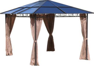 Grasekamp 4 Seitenteile zu Hardtop Pavillon 3×3,6m Doppelstegplatten Polycarbonat