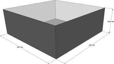 Hochteich Teich Einsatz 117x117 cm